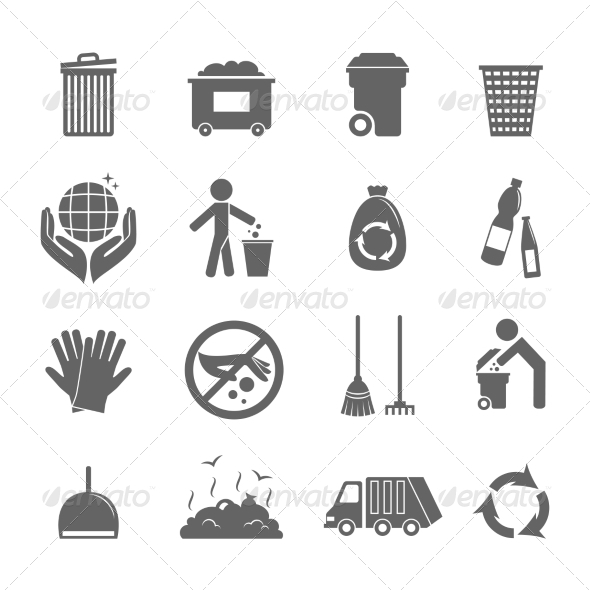 GraphicRiver Garbage Icons Set 8099769