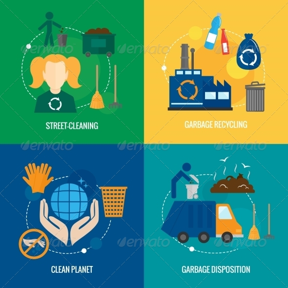 GraphicRiver Garbage Icons Composition 8099770