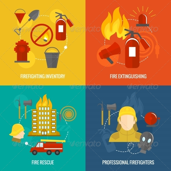 GraphicRiver Firefighting Composition 8099771