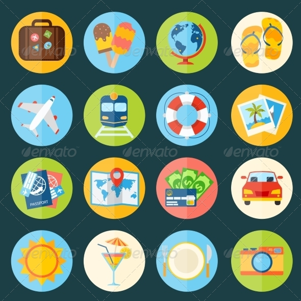 GraphicRiver Travel Icons Set 8099776