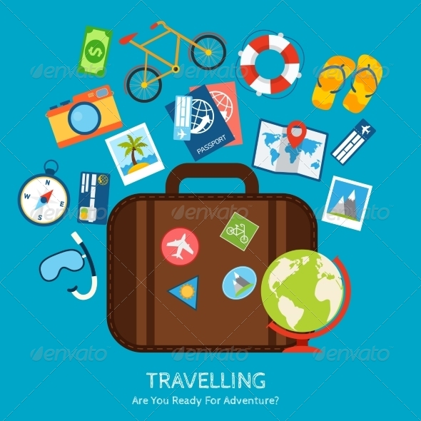 GraphicRiver Travel Flat Concept 8099781