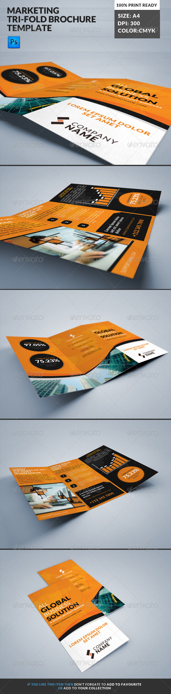 GraphicRiver Marketing Tri-Fold Brochure 2 8099800