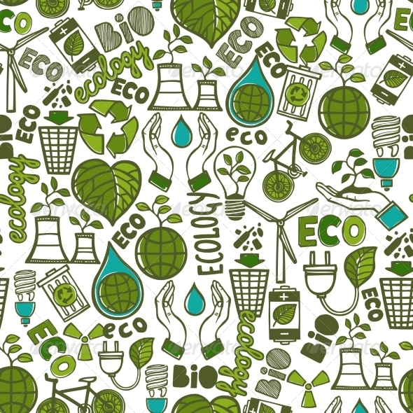 GraphicRiver Ecology Pattern 8099810