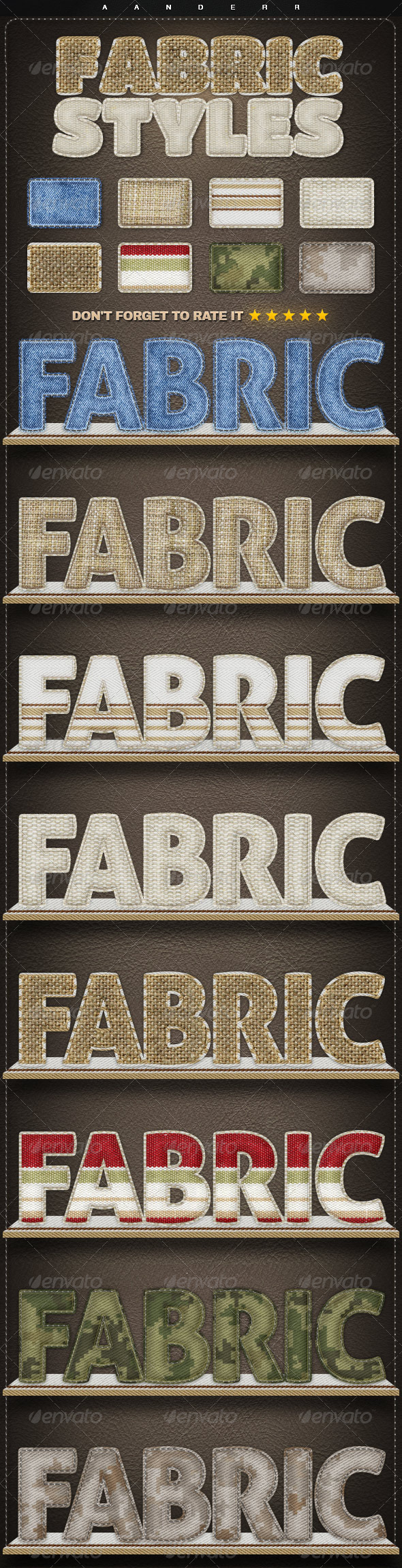 GraphicRiver Fabric Styles 8099818