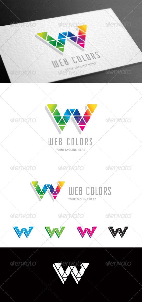 GraphicRiver Web Colors W Letter Logo Template 8099829