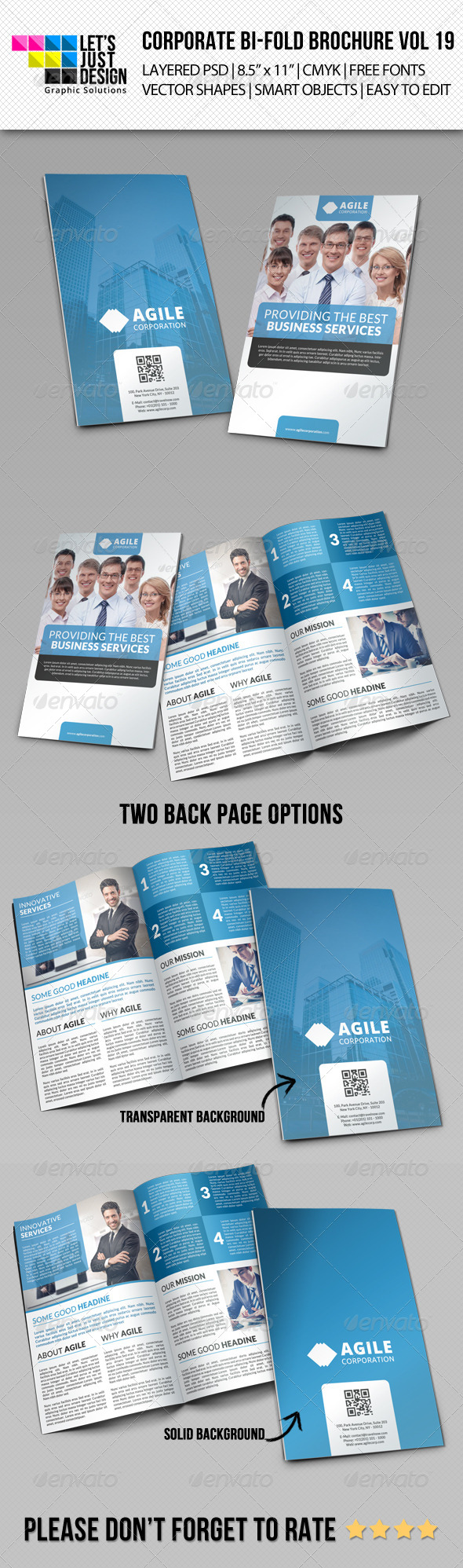Corporate Bi-Fold Brochure Vol 19