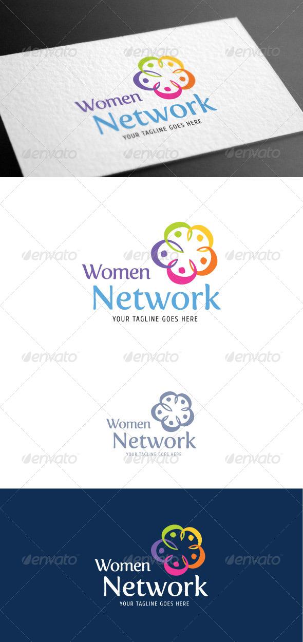 GraphicRiver Women Network Logo Template 8099842