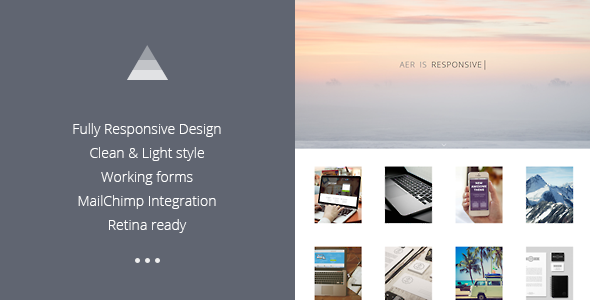 ThemeForest Aer Clean HTML5 Template 8099843