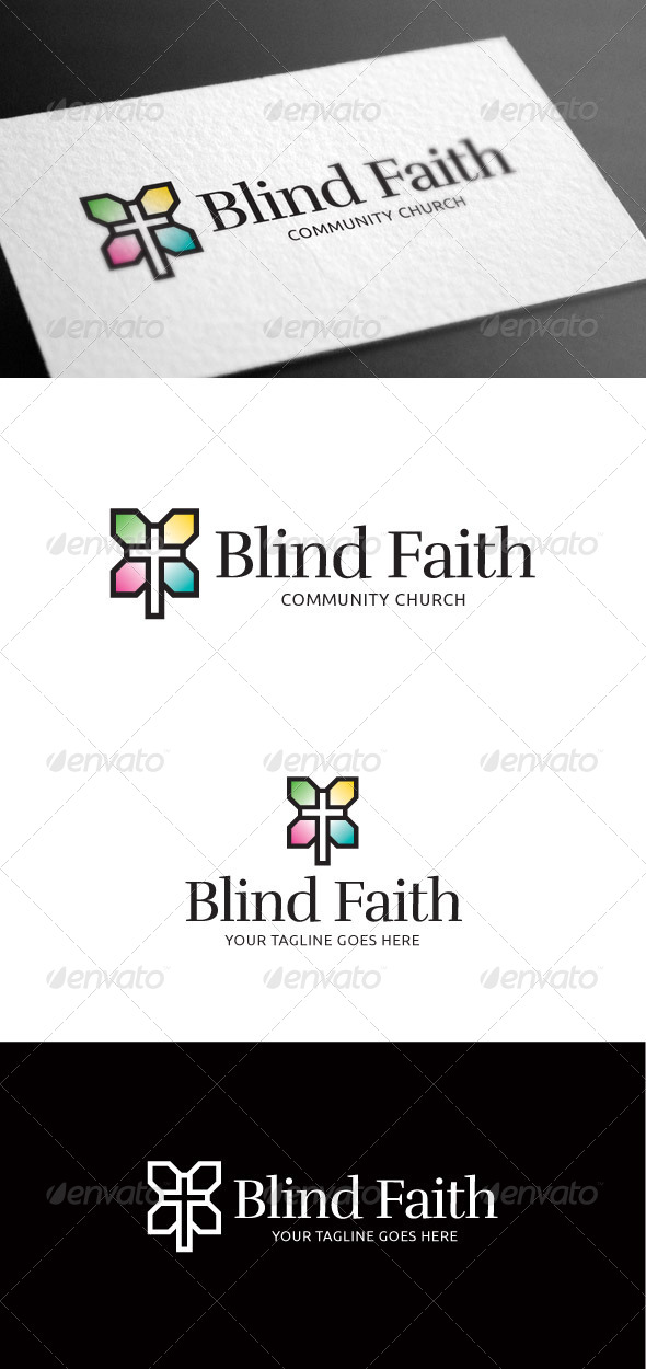 GraphicRiver Blind Faith Logo Template 8100055