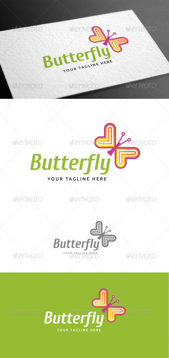 GraphicRiver Butterfly Logo Template 8100062