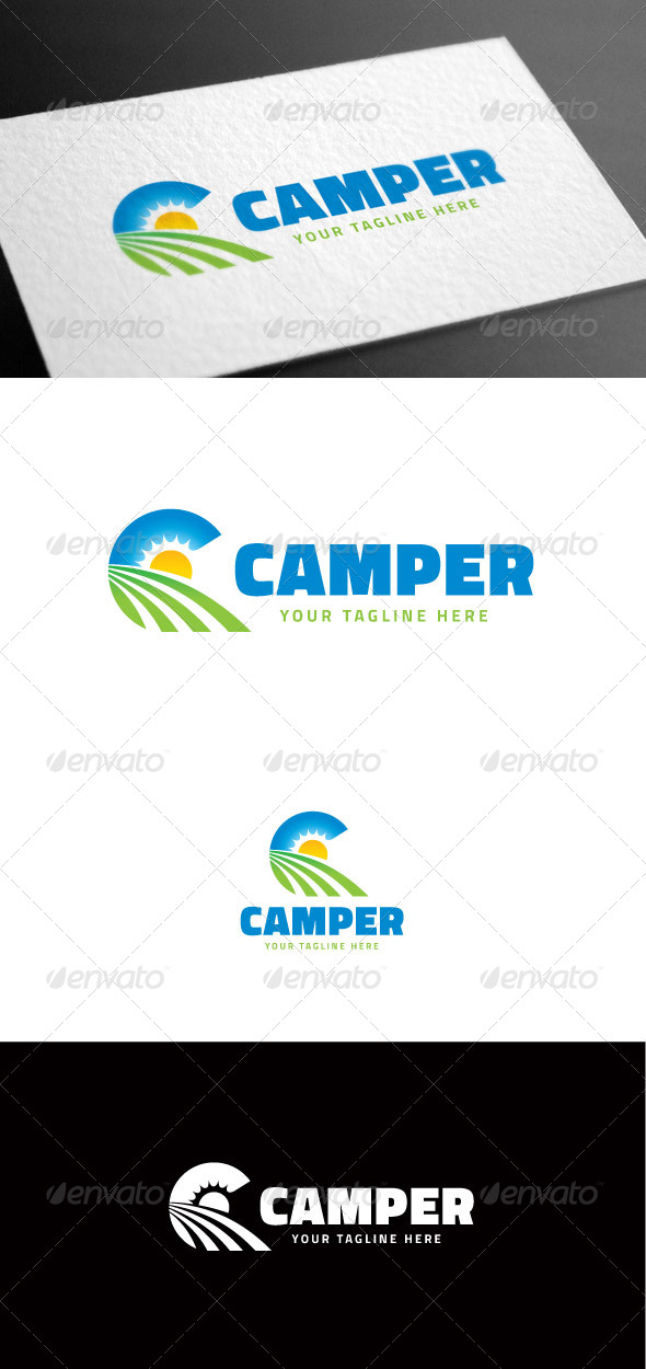 GraphicRiver Camper Logo Template 8100066