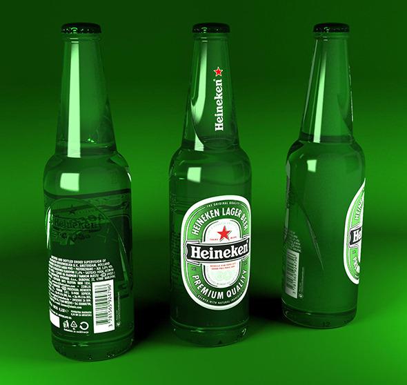 3DOcean Heineken bottles 400ml 8100090
