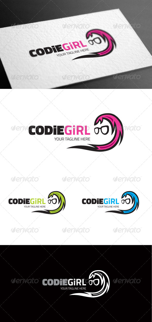 GraphicRiver Codiegirl Geek Logo Template 8100095