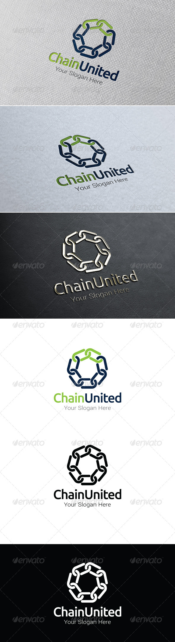 GraphicRiver Chain United Logo Template 8100125