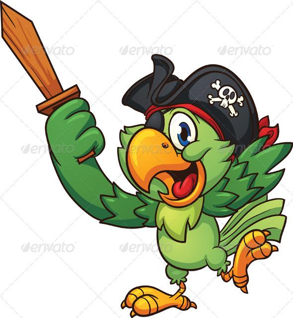 GraphicRiver Pirate Parrot 8100150