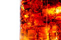 Cola with ice and bubbles in glass closeup - PhotoDune Item for Sale
