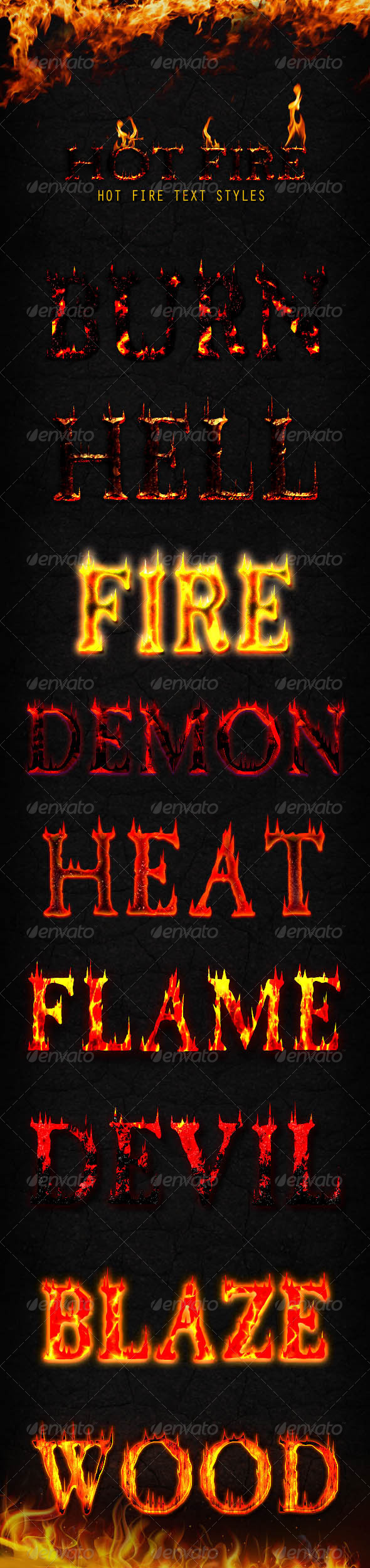 GraphicRiver Hot Fire Styles 8100169