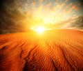 Desert. Sand Landscape with Sun - PhotoDune Item for Sale