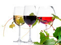 Wine. Three Glasses of wine isolated on white - PhotoDune Item for Sale