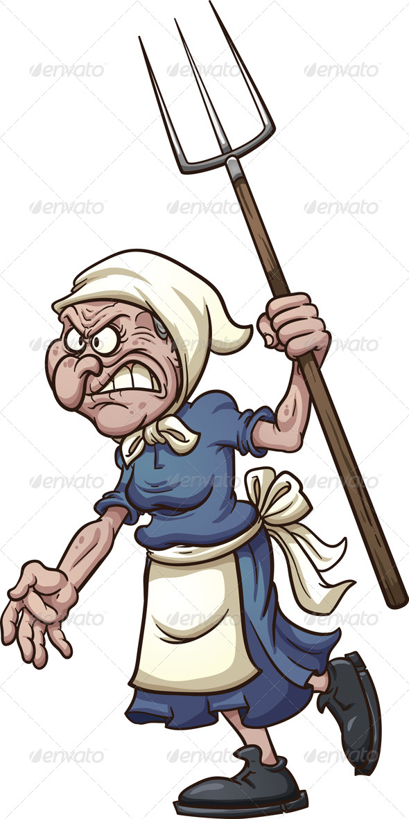 GraphicRiver Angry Old Woman 8100404