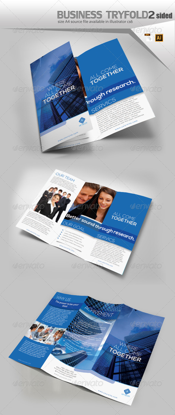 GraphicRiver Industrial Trifold Brochure 8100413
