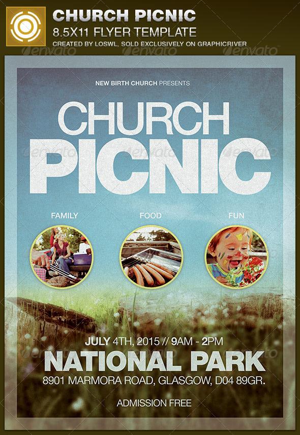 Church Picnic Flyer Template   GraphicRiver