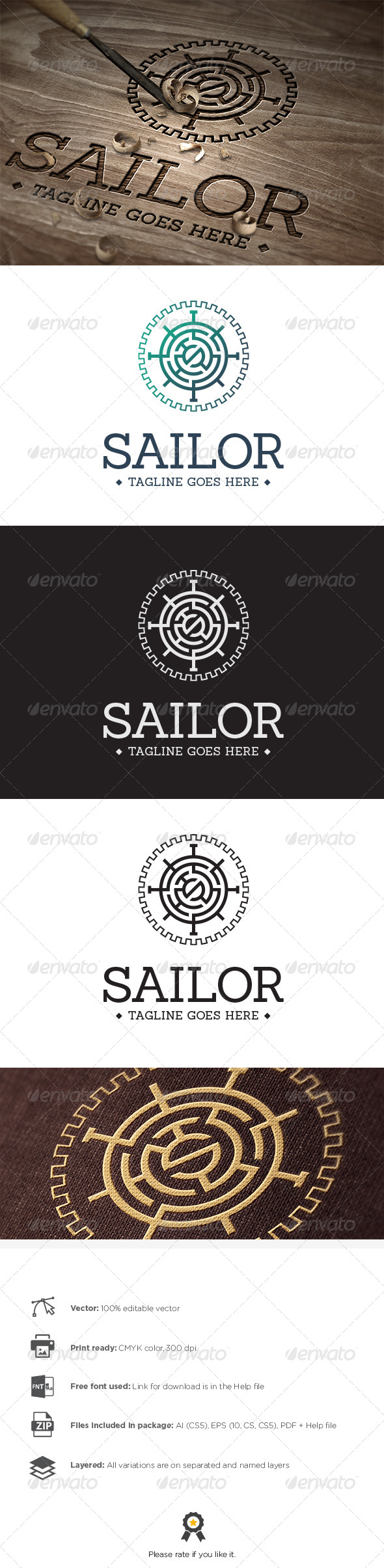 GraphicRiver Sailor Logo 8100531