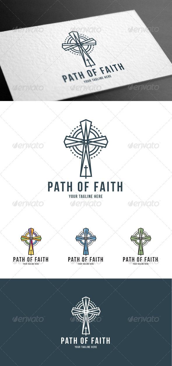 GraphicRiver Path Faith Logo Template 8100548