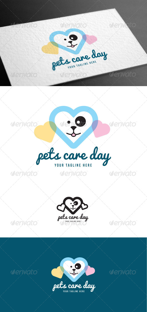 GraphicRiver Pets Care Logo Template 8100563