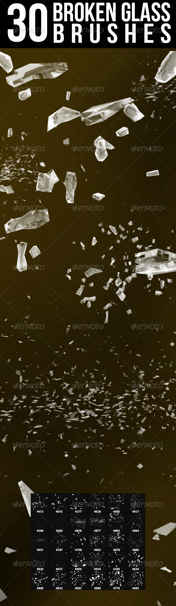 GraphicRiver 30 Broken Glass Brushes 8100596