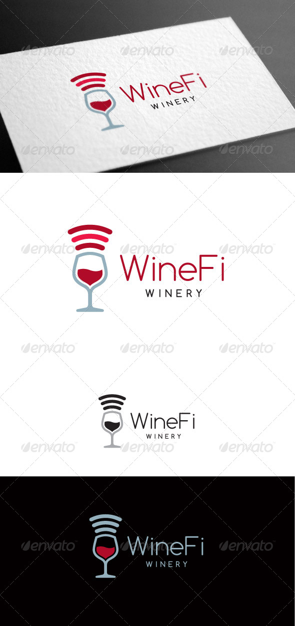 GraphicRiver Winefi Logo Template 8100656