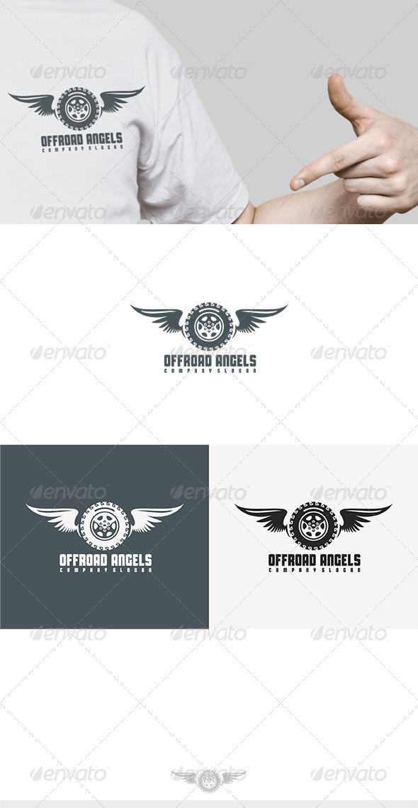 GraphicRiver Offroad Angels Logo 8100769