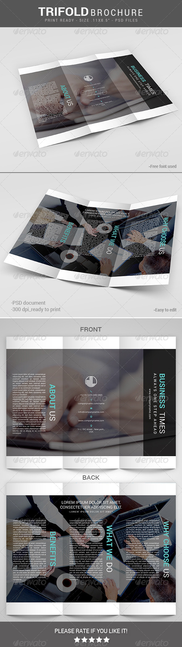 GraphicRiver Business Times Multipurpose Trifold 8100935