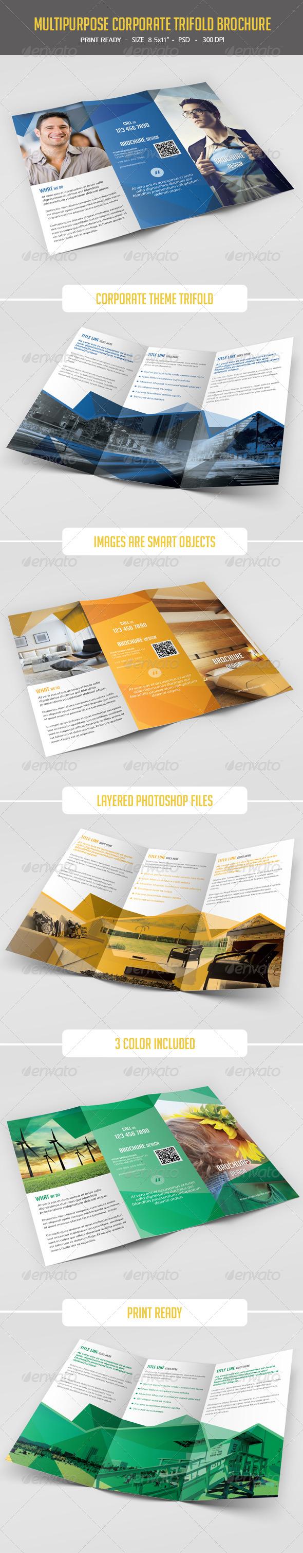 GraphicRiver Multipurpose Tri-Fold Brochure 8100943