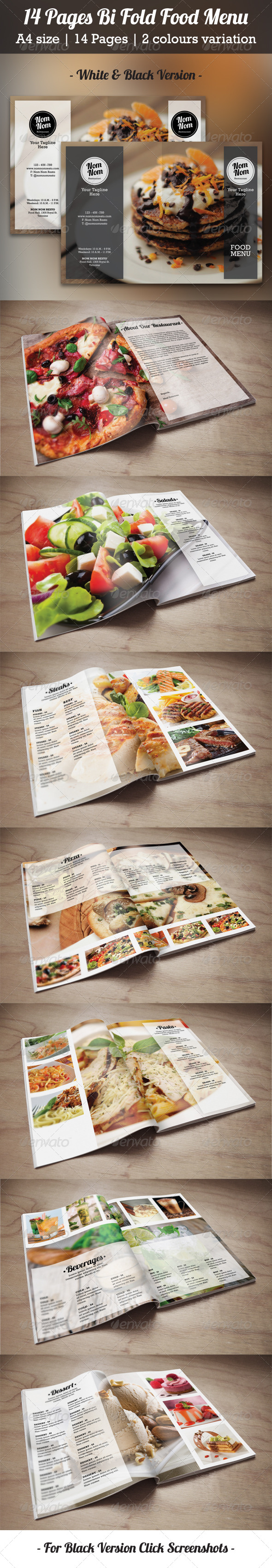 GraphicRiver 14 Pages Bi Fold Food Menu 8101125