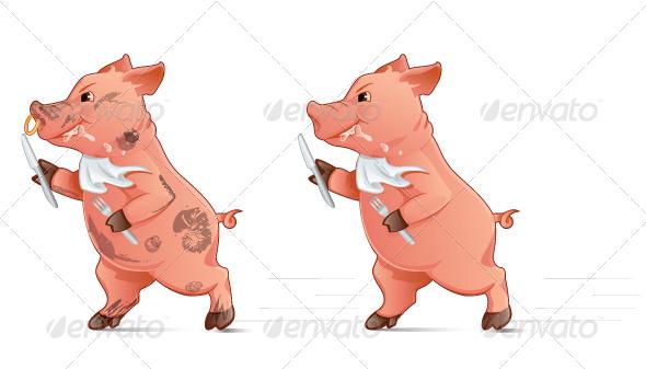 GraphicRiver Hungry Pig 8101154