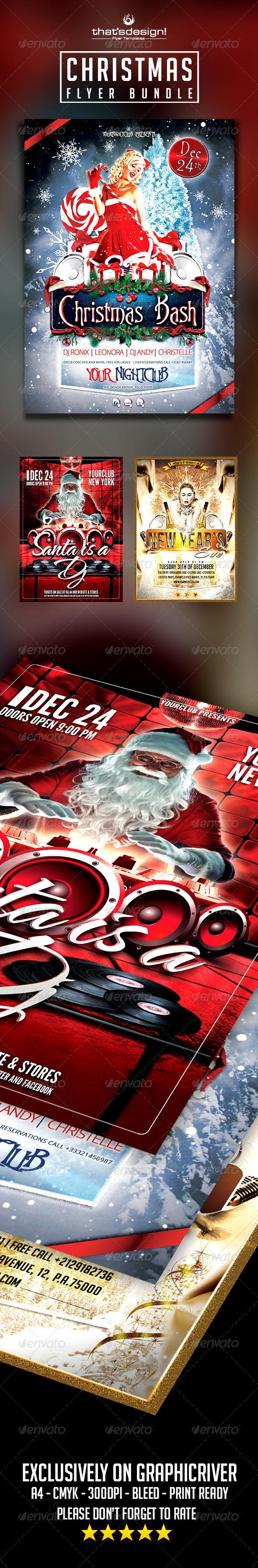 Christmas Flyer Bundle - Clubs & Parties Events