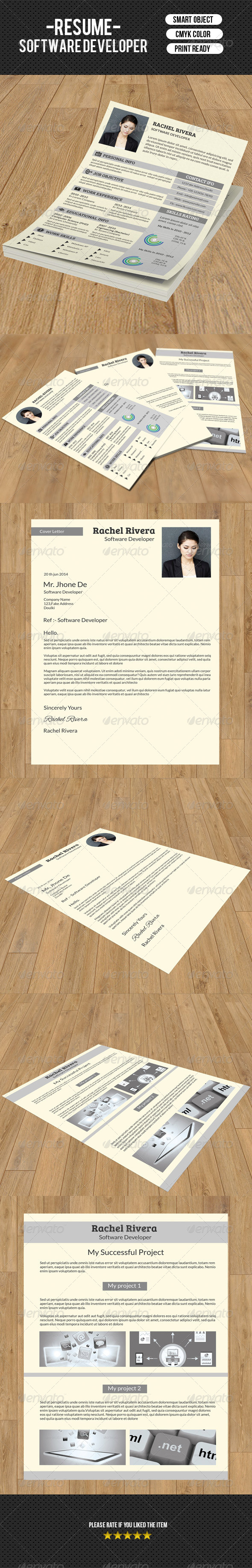 GraphicRiver Classic Resume Template-V05 8101358