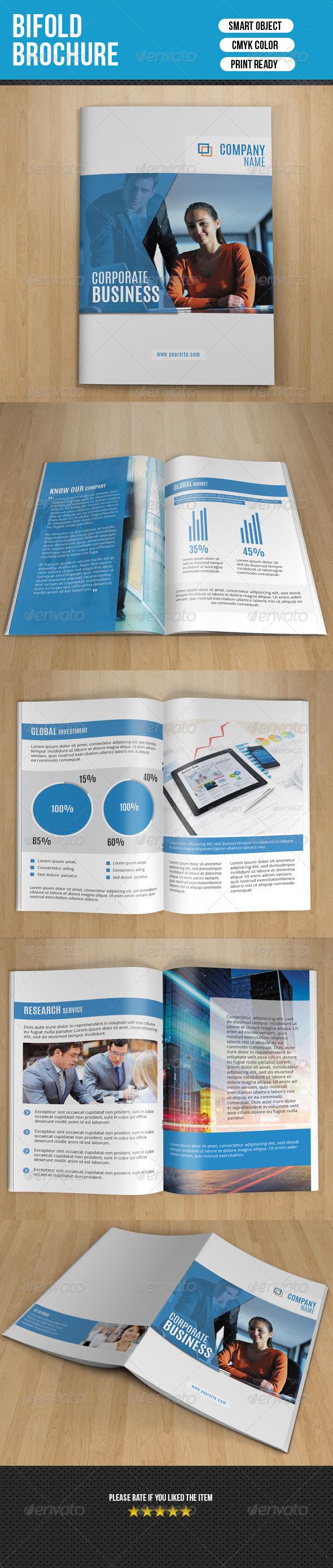 GraphicRiver Fresh Business Bifold Brochure-V70 8101373