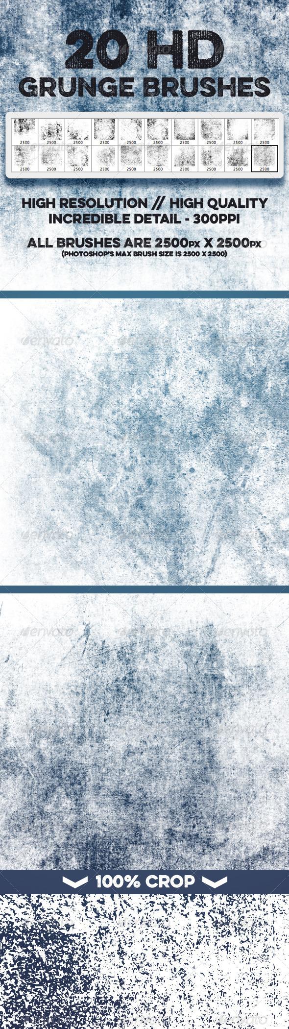 GraphicRiver 20 HD Grunge Theme Brushes Volume 1 8101432