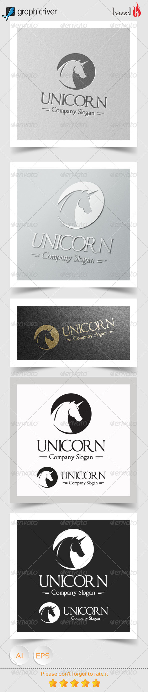 GraphicRiver Unicorn Logo 8101521