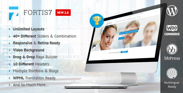 Fortis7 - Responsive Multi-Purpose Theme - Business Corporate