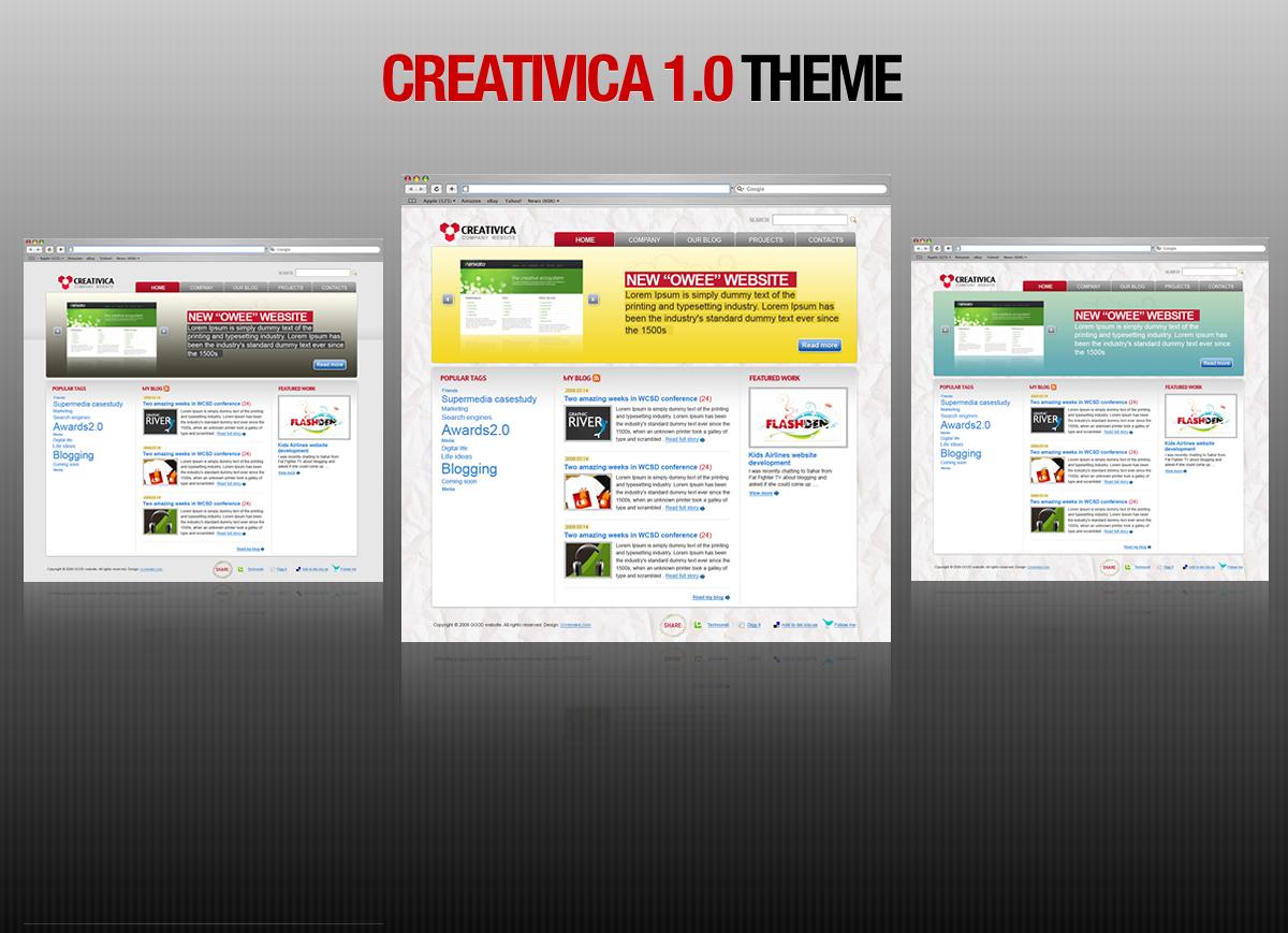 """Creativica 1.0"" theme"