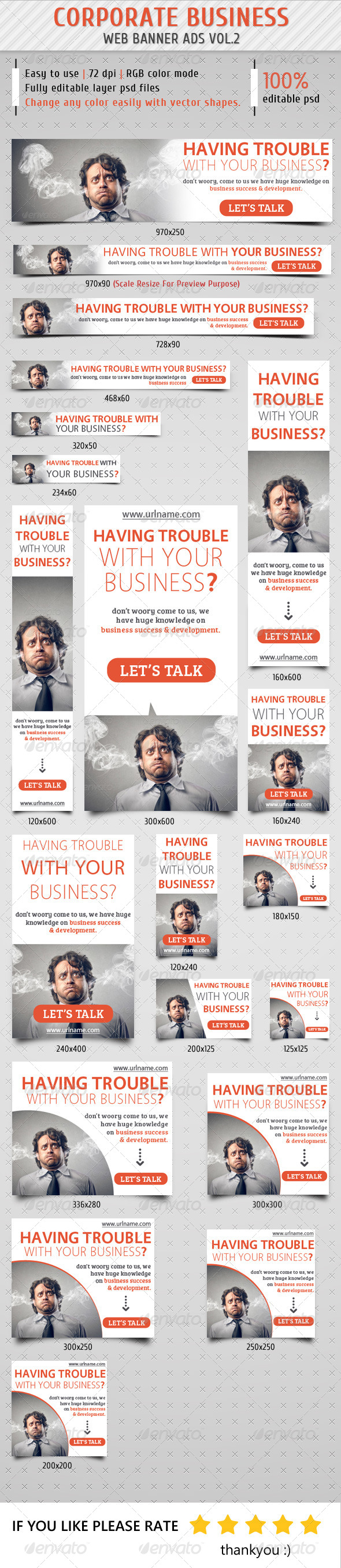 Corporate Business Banner Ads Vol.2