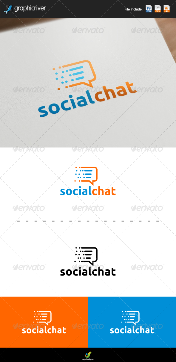 GraphicRiver Social Chat Logo 8101797