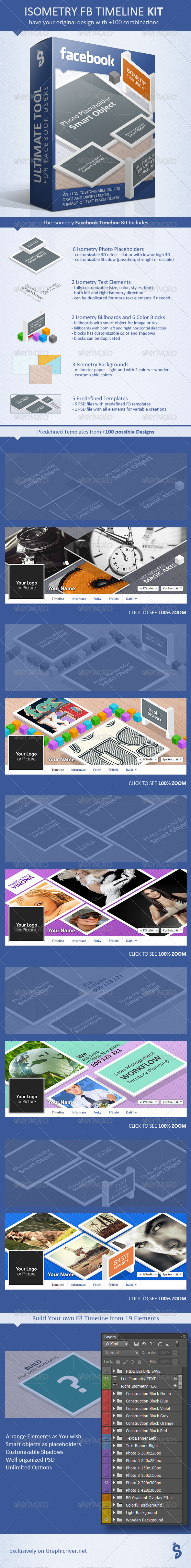 GraphicRiver Facebook Timeline Kit Isometry 8101798