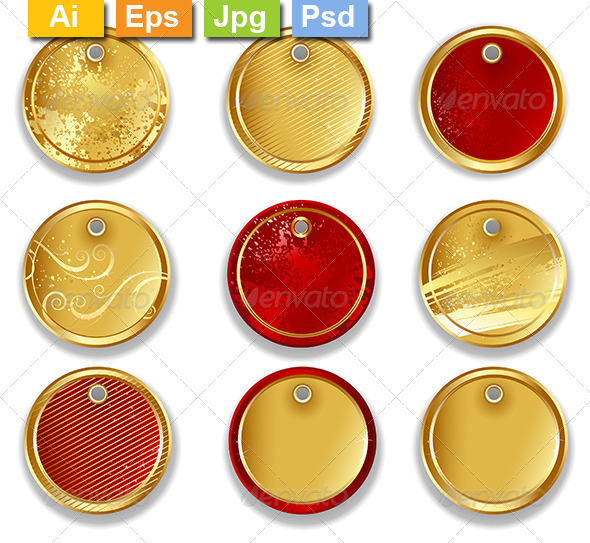 GraphicRiver Round Labels 8101839