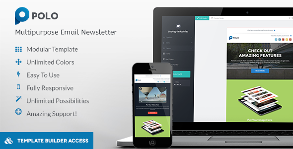 Polo - Responsive Email + Template Builder Access