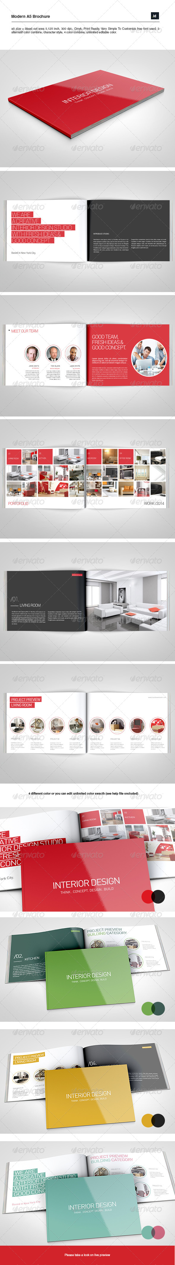 GraphicRiver A5 Modern Brochure 8101177