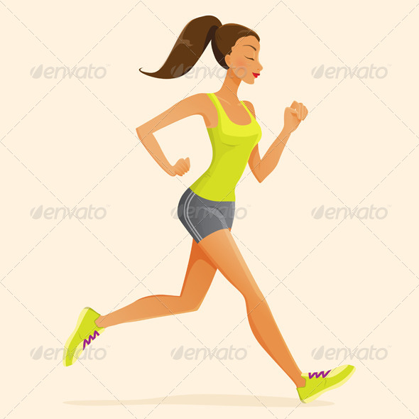 GraphicRiver Running Woman 8102013